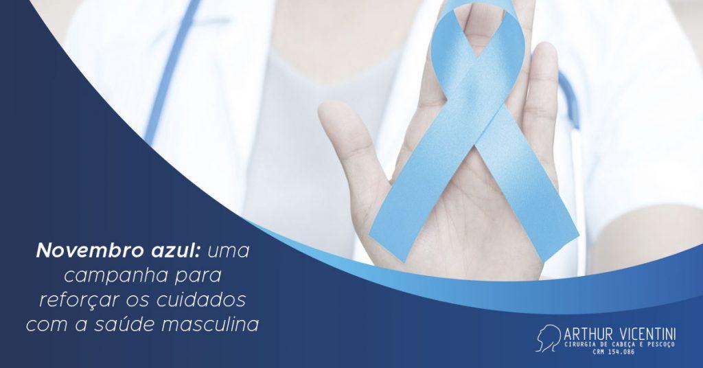 Ao Fundo Da Imagem, Há Um Doutor Com Um Laço Azul Em Sua Mão.